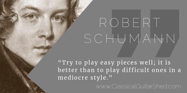schumann easy guitar practice