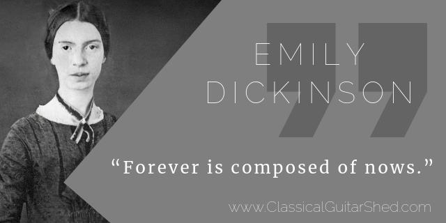 Emily Dickinson guitar practice