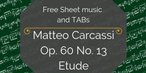 carcassi guitar free etude