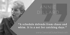Annie Dillard guitar practice