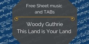 woody guthrie land free gutiar