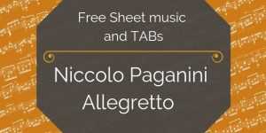 Paganini guitar music pdf