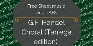 Handel free guitar music