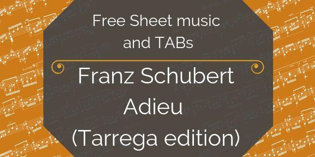 Schubert free guitar pdf