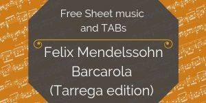 mendelssohn free guitar music