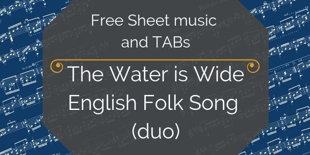 water is wide free guitar duo