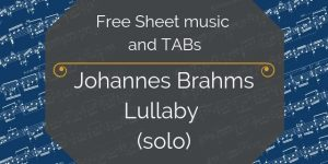 brahms lullaby for guitar