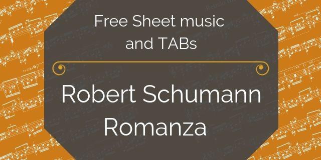 Schumann romanza guitar free