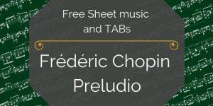 chopin free guitar music