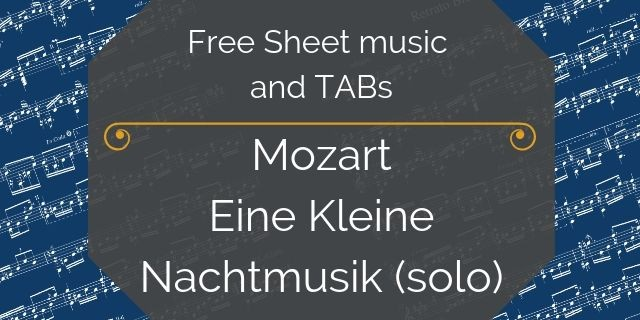 Mozart Eine Kleine free guitar