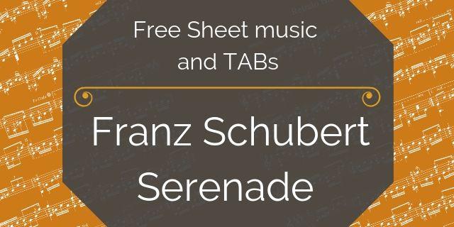 schubert free guitar music