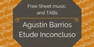 barrios etude free guitar