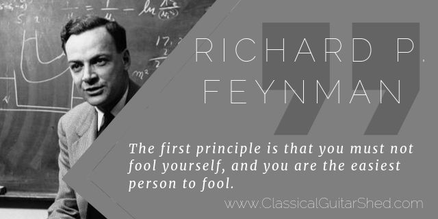 Richard Feynman practice principle