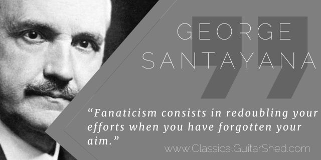 George Santayana fanatic practice