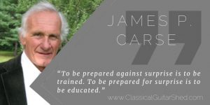 James Carse training surprise