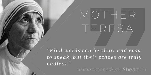 mother teresa guitar kind words