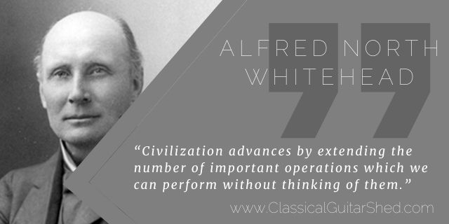 Alfred North Whitehead on Guitar Technique