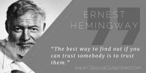 Hemingway trusting teacher