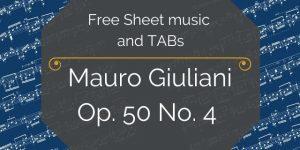 giuliani sheet music guitar