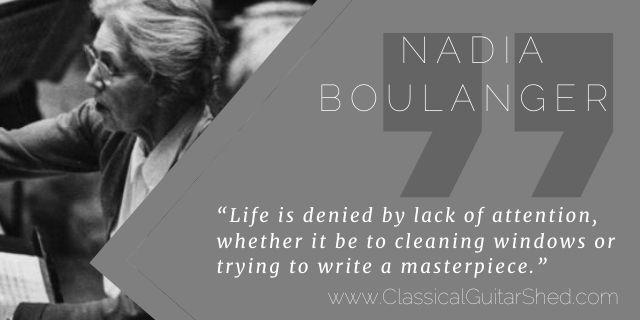 Nadia Boulanger on when practice stops