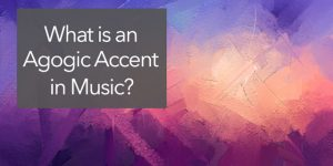 What is an agogic accent?
