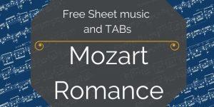 Mozart guitar free music