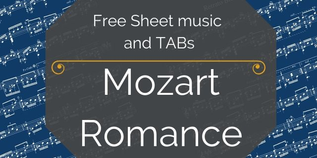 Mozart guitar free music