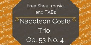 coste free guitar sheet music