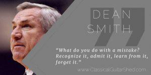 Dean Smith Practice Mistakes