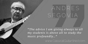 Segovia Profound guitar practice