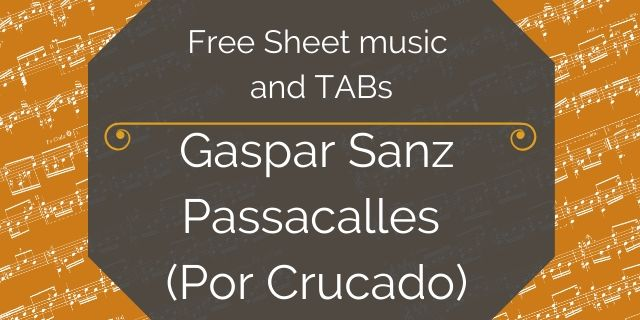 Gaspar Sanz passacalles guitar