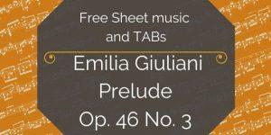 Emilia classical guitar pieces