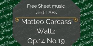 carcassi sheet music tab