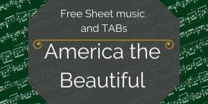 america guitar music pdf