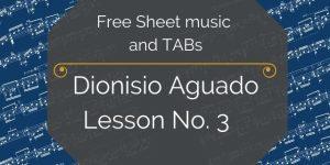 aguado guitar lesson free