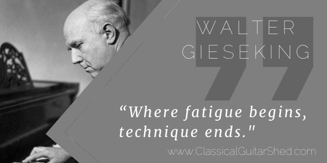 Walter Gieseking practice fatigue