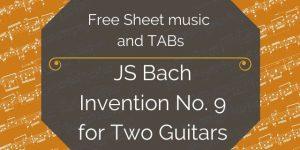 Bach Free Guitar Sheet Music
