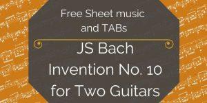 bach guitar duo free
