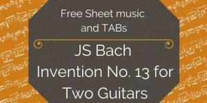 bach duet free guitar
