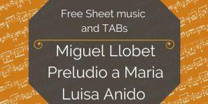 llobet free guitar prelude
