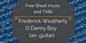 danny boy guitar free
