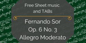 Sor free sheet music download