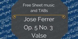 ferrer free sheet music