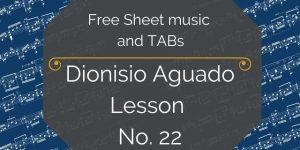 aguado lesson 22 free guitar