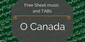 Canada national anthem guitar