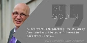 Seth Godin hard work guitar