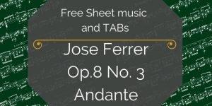 Ferrer classical guitar music