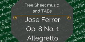 Ferrer Free guitar pdf