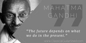 Mahatma Gandhi present practice