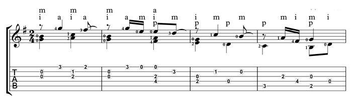 Sor Etude 60 number 16 for guitar